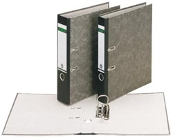 Leitz  ordner, ft folio, rug 80mm, karton, gewolkt zwart