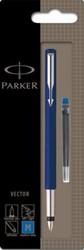 Parker Collectie Vector Standard vulpen blauw, blister 1 stuk