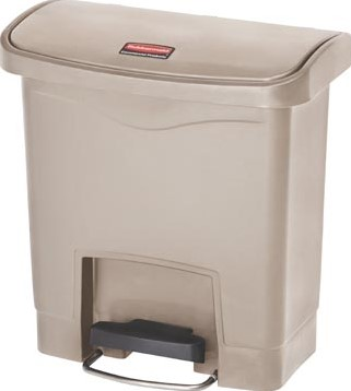 Rubbermaid Slim Jim Step-On-container Front Step beige 15 l