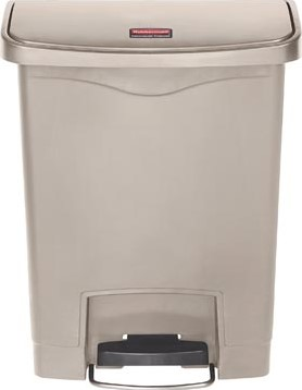 Rubbermaid Slim Jim Step-On-container Front Step beige 30 l