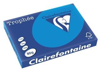 Gekleurd papier A3 80 gram caribiën blauw