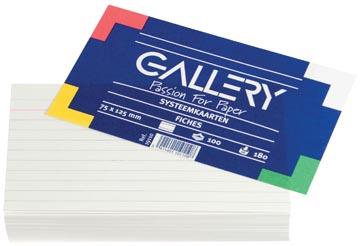 Class'ex witte systeemkaarten 180 g/m², ft 7,5 x 12,5 cm, gelijnd