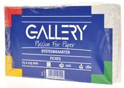 Class'ex witte systeemkaarten 180 g/m², ft 7,5 x 12,5 cm, geruit 5 mm