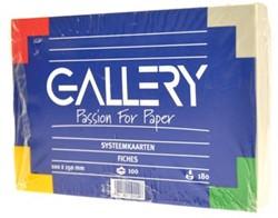 Class'ex witte systeemkaarten 180 g/m², ft 10 x 15 cm, effen
