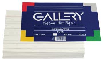 Class'ex witte systeemkaarten 180 g/m², ft 10 x 15 cm, gelijnd