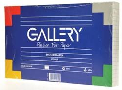 Class'ex witte systeemkaarten 180 g/m², ft 12,5 x 20 cm, gelijnd