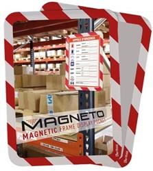 Tarifold tas met magnetische rug, ft A4, rood/wit, pak van 2 stuks