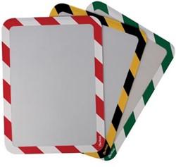 Tarifold tas met magnetische rug, ft A4 geel/zwart, pak van 2 stuks