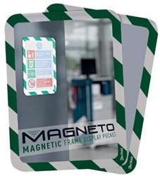 Tarifold tas met magnetische rug, ft A4 groen/wit, pak van 2 stuks
