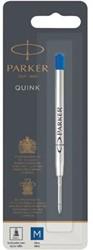 Parker Quink gelvulling voor balpen medium, blauw, op blister
