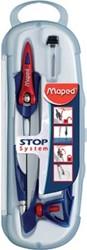 Maped passer Stop System 3-delige passerdoos: 1 passer Stop System, 1 universeel inzetstuk en 1 kokert...