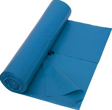 Vuilniszak 38 micron ft 70 x 110 cm blauw rol van 25 stuks