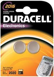 Duracell knoopcel batterij Alkaline Electronics CR2016 3V