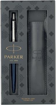 Parker giftset Jotter balpen Royal Blue en pen zakje
