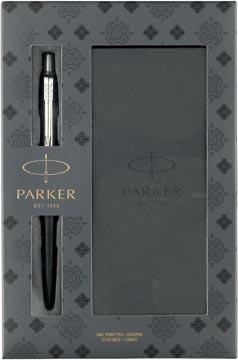 Parker giftset Jotter balpen Bond Street Black en notitieboekje