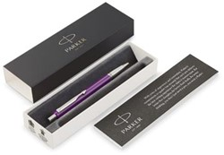 Parker balpen Vector, medium, in giftbox, paars