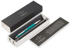 Parker balpen Vector, medium, in giftbox, smaragdgroen