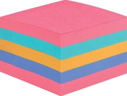 Post-it Super Sticky Notes kubus, voor ft 76 x 76 mm, geassorteerde regenboogkleuren