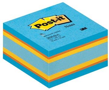 Notes Kubussen blauw/oranje