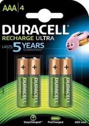 Duracell AAA oplaadbare batterij Stay Charged 800ma 4 stuks