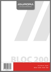 Kladblok ft 21 x 29,7 cm (A4), effen