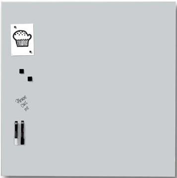 Magnetisch glasbord Naga wit 100 x 100cm