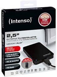 INTENSO 2.5 HDD FESTPLATTE 500GB 6021430 USB 3.0 external black
