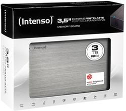 INTENSO 3.5 HDD FESTPLATTE EXTERN 3TB 6033511 USB 3.0 stationaer anthrazit