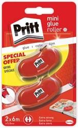 Pritt lijmroller Glue-it Refill, blister met 2 stuks (2e aan halve prijs)