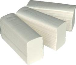 Papieren handdoekjes voor dispenser multifold 24x21cm pak van 150 stuks