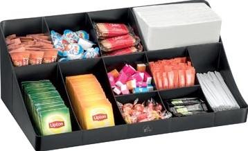 Organisatie element voor de koffiehoek of keuken 11 compartimenten kleur zwart