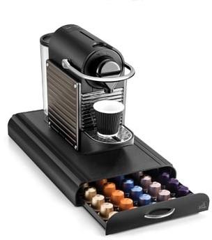 Opbergelement voor koffiecapsules geschikt voor 45 tot 50 capsules afhankelijk van het merk