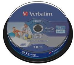 VERBATIM BD-R 25GB 6x (10) CB 43804 HTL tintenstrahlbedruckbar