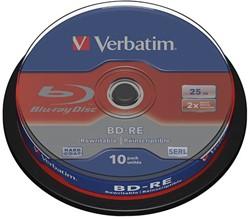 VERBATIM BD-RE 25GB RW 2x (10) CB 43694 Cake Box wiederbeschreibbar