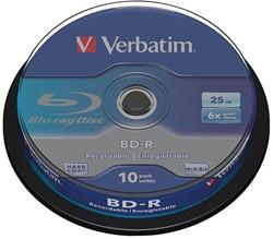 VERBATIM BD-R 25GB 6x (10) CB 43742 cake box