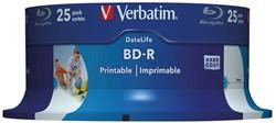VERBATIM BD-R 25GB 6x (25) CB 43811 wide inkjet printable