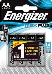 Energizer batterijen Max Plus AA, blister van 4 stuks