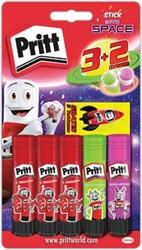 Pritt plakstift 3 x 11 g + 2 Neon sticks gratis