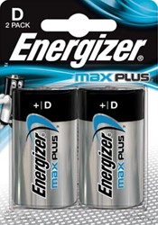 Energizer batterijen Max Plus D, blister van 2 stuks