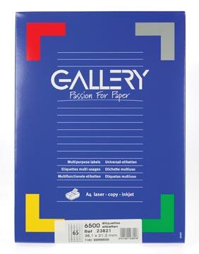 Gallery universele etiketten  38,1 x 21,2mm 65 etiketten per vel