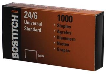 Bostitch nietjes 24-6-1MGAL, 6 mm, verzinkt, voor B440F, B660, B650, B3000, B3100, B202, B2500, B440LR...