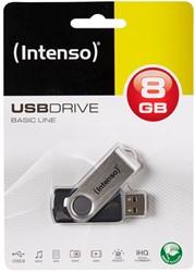 INTENSO USB STICK 2.0 8GB SCHWARZ 3503460 28MB/s USB 2.0 black