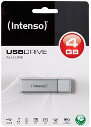 USB 2.0 4gb Intenso zilver