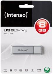 INTENSO USB STICK 8GB SILBER 3521462 28MB/s USB 2.0 silver