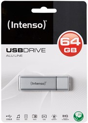 INTENSO USB STICK 2.0 64GB SILBER 3521492 28MB/s USB 2.0 silver