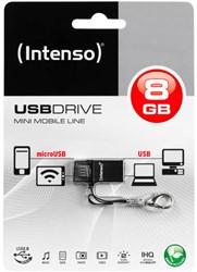 INTENSO USB DRIVE 2.0 8GB BLK 3524460 20MB/s USB 2.0 black
