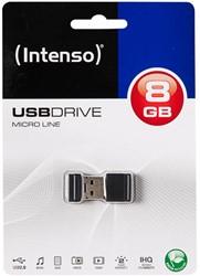 INTENSO USB DRIVE 2.0 8GB BLK 3500460 16,5MB/s USB 2.0 black