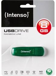 INTENSO USB STICK GREEN 8GB 3502460 28MB/s USB 2.0 green