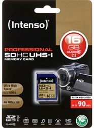 INTENSO SDHC CARD UHS-I 16GB 3431470 90MB/s class 10