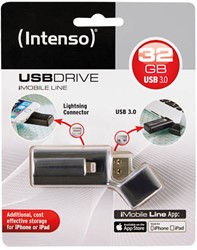 INTENSO USB DRIVE 3.0 32GB IMOBILE LINE 3535480 35MB/s USB 3.0 black